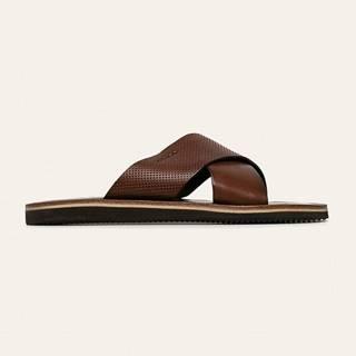Wojas - Kožené pantofle