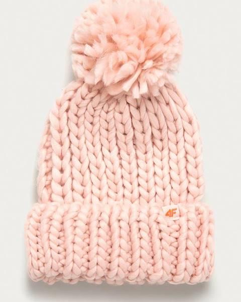 Růžová čepice 4F