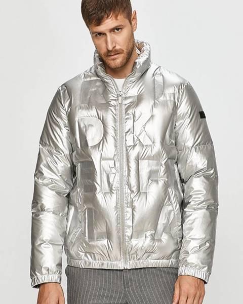 Stříbrná bunda karl lagerfeld