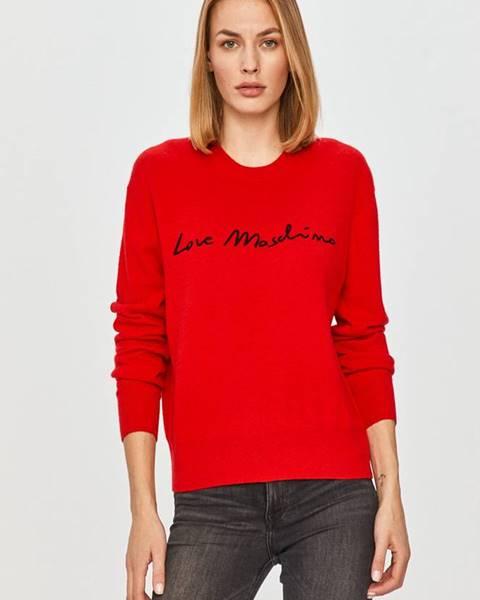 Červený svetr Love Moschino