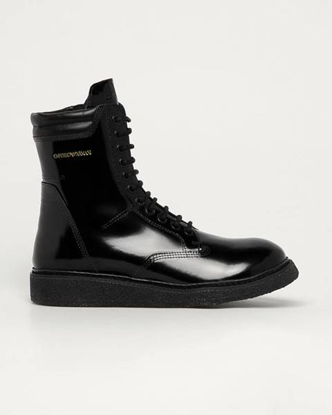 Černé boty Emporio Armani