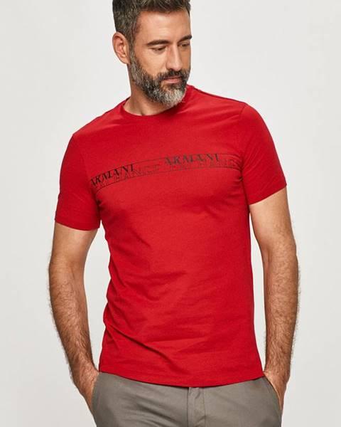 Červené tričko Armani Exchange