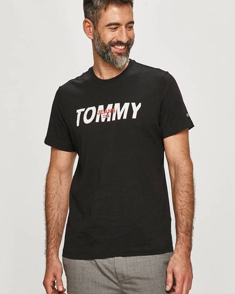Černé tričko Tommy Jeans