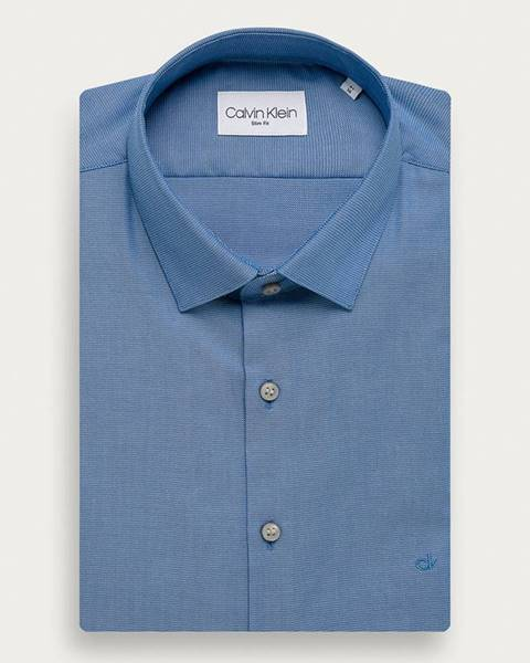 Modré tričko Calvin Klein
