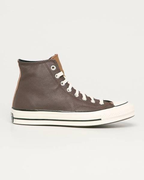 Hnědé boty converse