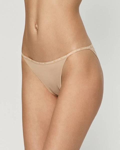 Béžové spodní prádlo calvin klein underwear