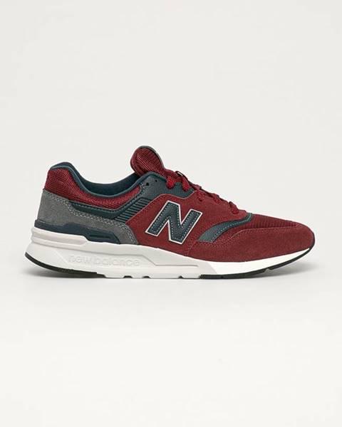 Červené boty new balance