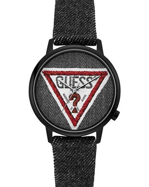 Černé hodinky Guess