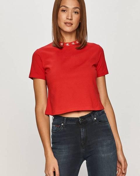 Červený top calvin klein jeans