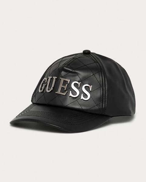Černá čepice Guess