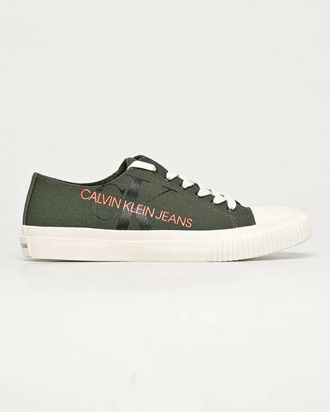 Zelené boty calvin klein jeans
