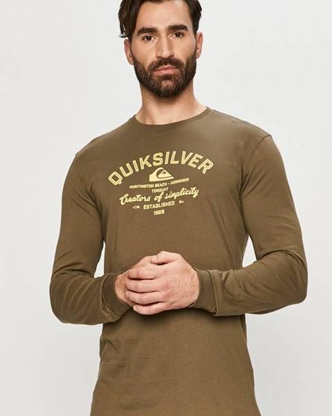 Zelené tričko quiksilver