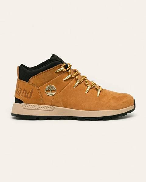 Béžové boty Timberland