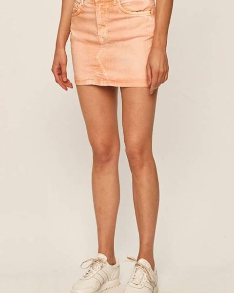 Oranžová sukně pepe jeans