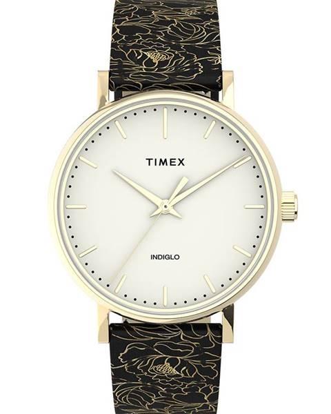 Černé hodinky Timex