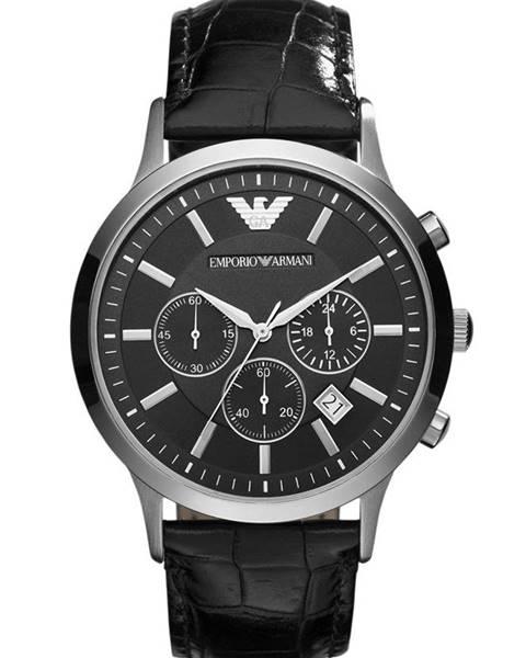 Černé hodinky Emporio Armani