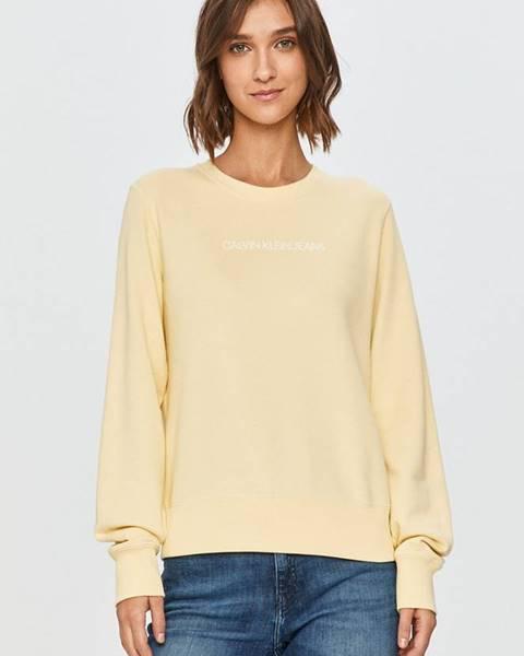 Žlutá mikina calvin klein jeans