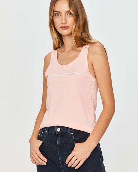 Růžový top calvin klein jeans