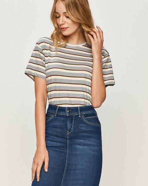 Fialový top pepe jeans