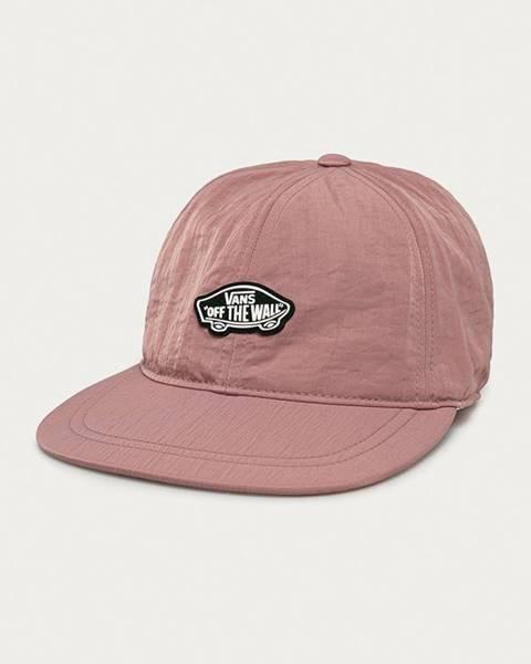 Růžová čepice vans