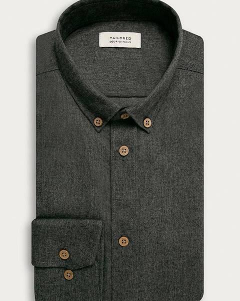 Šedá košile Tailored & Originals