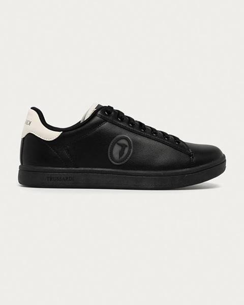 Černé boty Trussardi Jeans