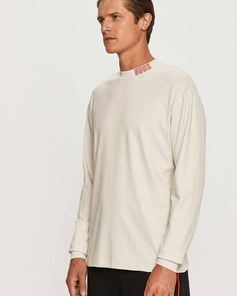 Béžové tričko HUGO