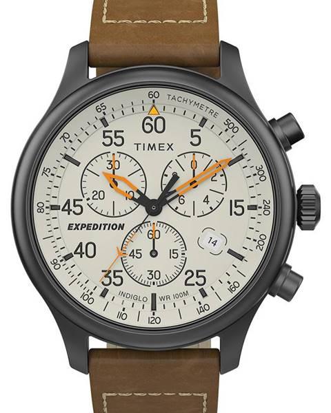 Hnědé hodinky Timex