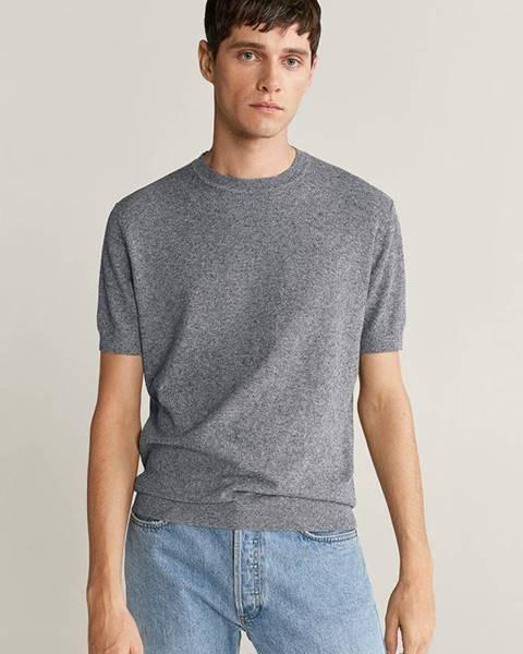 Šedé tričko Mango Man
