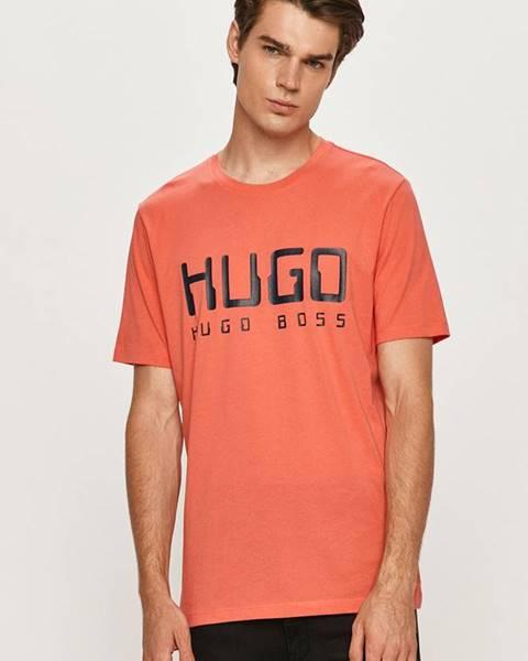 Oranžové tričko HUGO