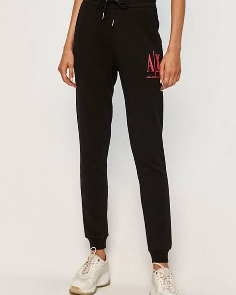 Černé kalhoty Armani Exchange