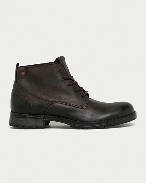 Hnědé boty jack & jones