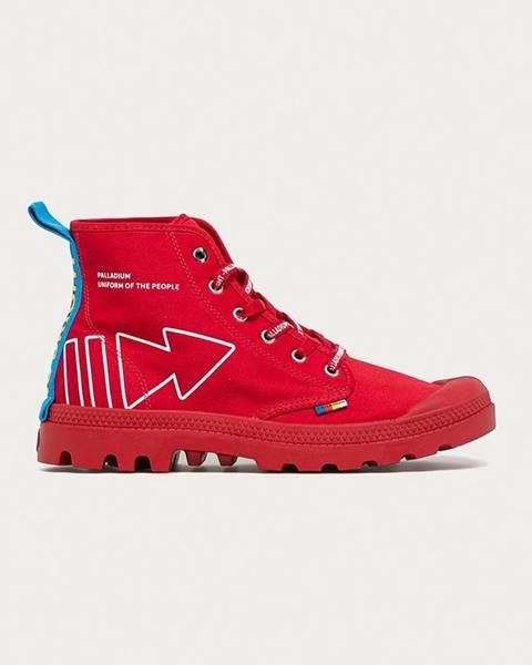 Červené boty Palladium