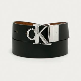 Calvin Klein Jeans - Oboustranný kožený pásek