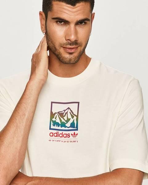 Béžové tričko adidas originals
