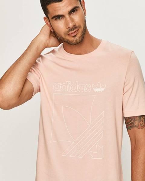 Růžové tričko adidas originals