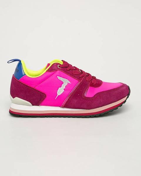 Růžové boty Trussardi Jeans