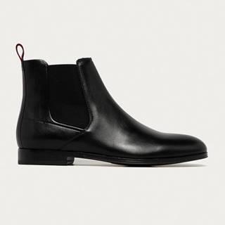 Hugo - Kožené kotníkové boty