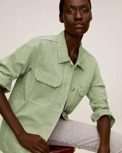Zelená bunda Mango