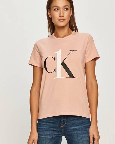 Růžový top calvin klein underwear