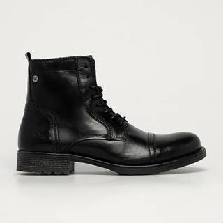 Mustang - Kožené boty