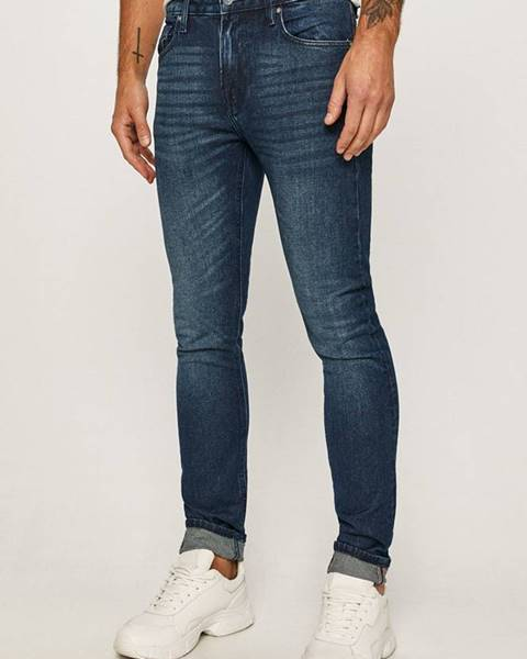 Modré kalhoty Guess