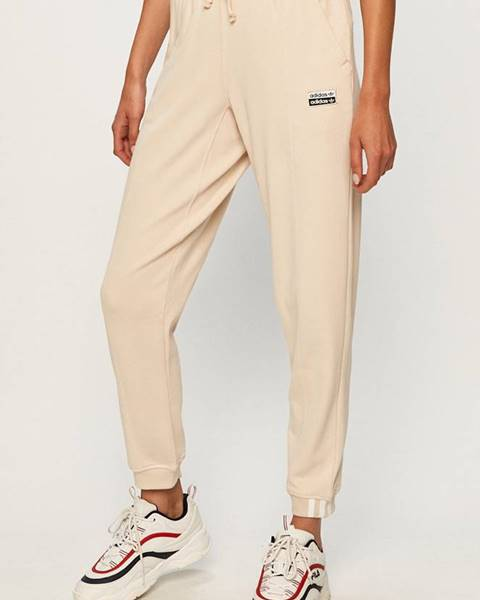 Béžové kalhoty adidas originals