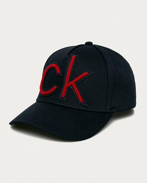Modrá čepice Calvin Klein