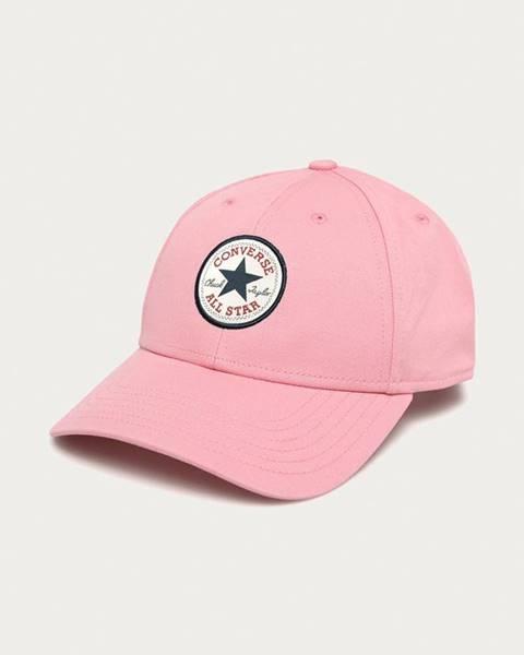 Růžová čepice converse