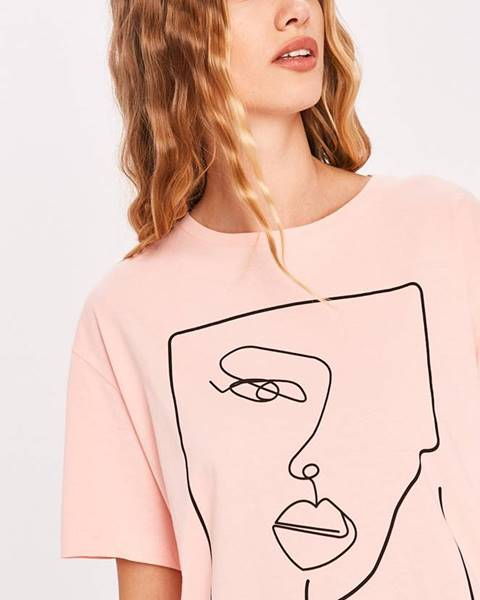 Růžový top Answear Lab