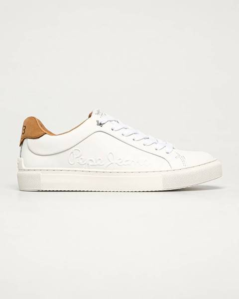 Bílé boty pepe jeans