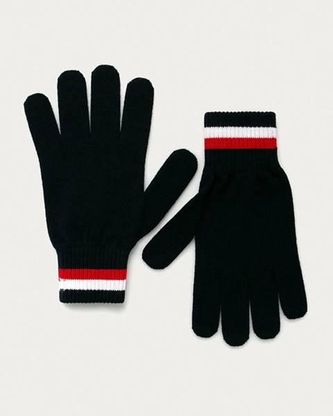Modré rukavice tommy hilfiger