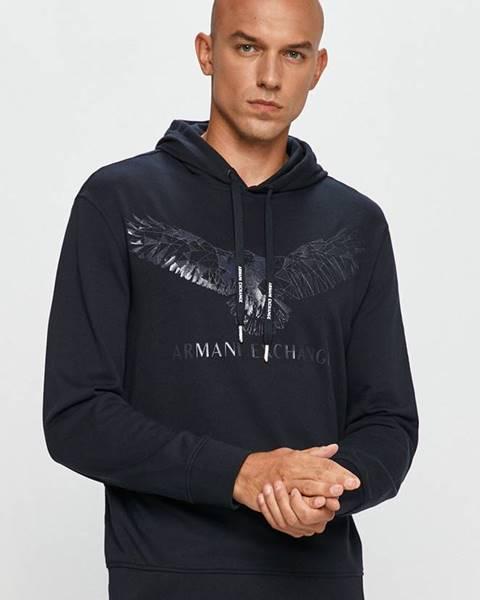 Modrá mikina Armani Exchange