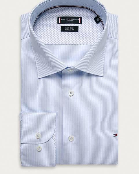 Modré tričko Tommy Hilfiger Tailored